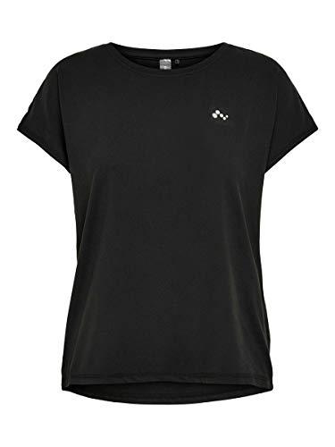 Only Onpaubree SS Loose Training tee-Opus Camisa Deportiva, Negro (Black Black), Large para Mujer