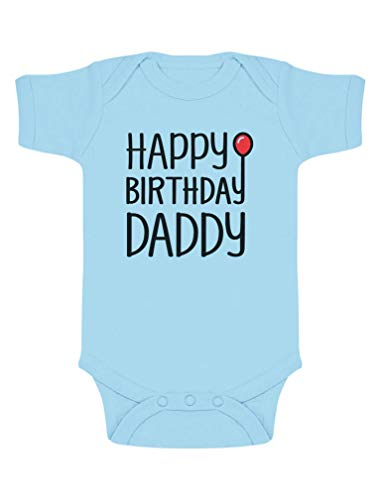 Body de Manga Corta para bebé - Happy Birthday Daddy Papá