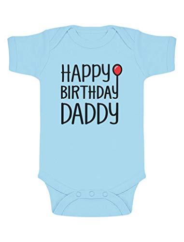 qidushop Body per Neonato con Scritta Happy Birthday Daddy Dads Birthday