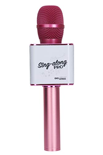 Sing-along PRO Bluetooth Microphone - Wireless Karaoke Microphone with Bluetooth for Kids and Adults - Portable Microphone for Home Karaoke - Sing-Along Mic with Stereo Audio - Pink