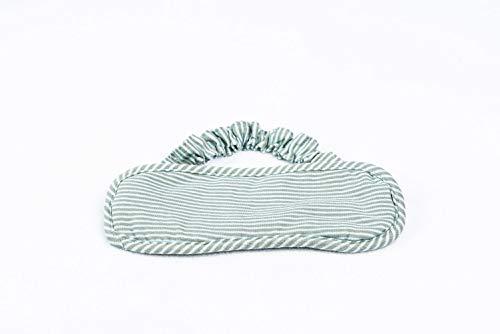 AHCHOO Child Cotton Soft Sleep Mask for Men Women Side Sleeper, Blocks Light, Non-Restricting Elastic Bands (Green & Grey)