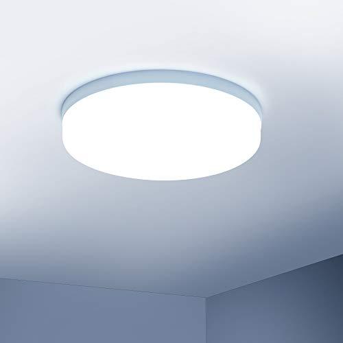 Yafido Plafoniere da Soffitto 36W 3240lm Bianco Freddo LED Lampada Tondo Sottile Plafoniera per Cucina, Cantina, Garage, Balcone, Soggiorno, corridoio