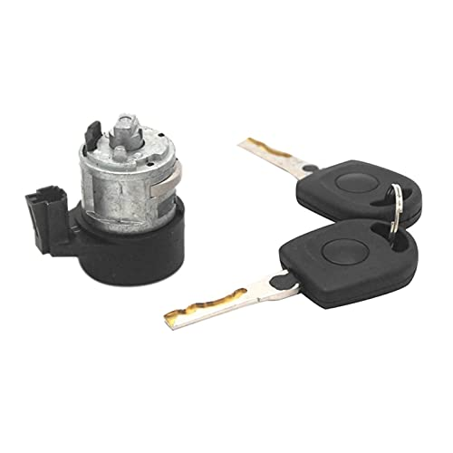 donghaibaihuopu 3B0905855C 107905855CB Interruptor de Encendido Bloqueo Conjunto de Barril Ajuste para el Asiento Passat Bora Golf A2 A3 A4 A6 A8 (Color : Black)