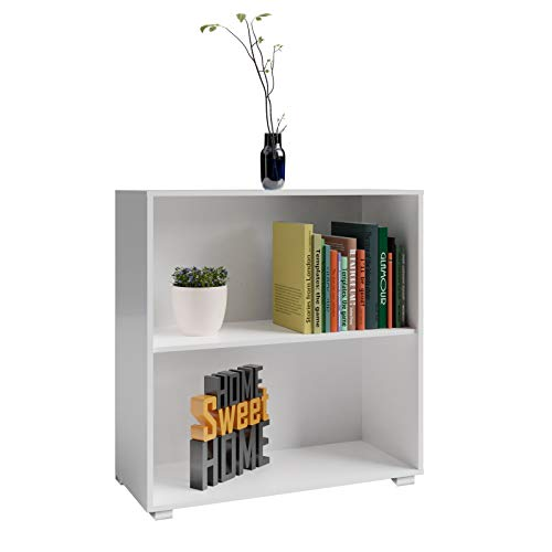 Deuba Standregal Bücherregal Wandregal Regal Holz Vela 2 Fächer Weiß Kinder - weitere Modell- & Farbauswahl