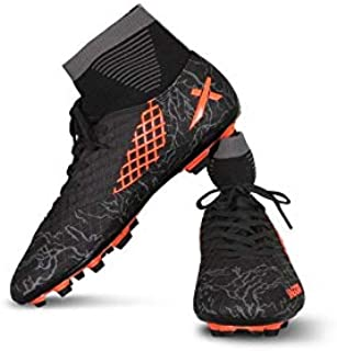 Vector X Jaguar Football Shoes (Black-Orange)