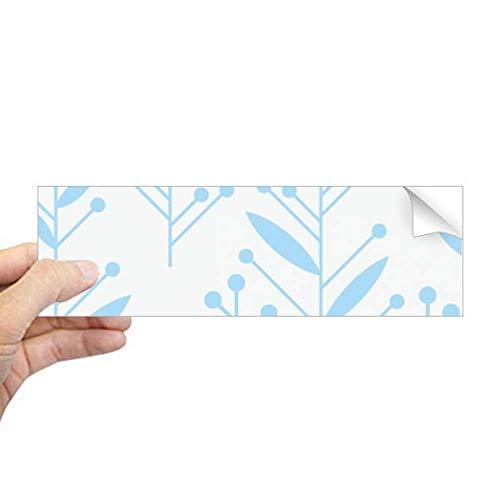 DIYthinker blauwe knop bloem plant verf rechthoek bumper sticker Notebook venster sticker