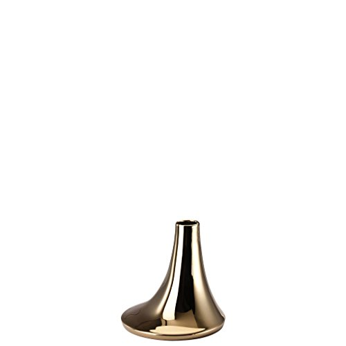 Rosenthal - Solitaire Leuchter Gold titanisiert Höhe 12 cm
