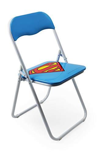 Excelsa Supereroi - Silla Plegable Superman, Metal, Color Azul, Altura del Asiento: 80 cm