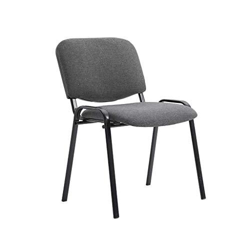 Lqfcjnb Studentenstuhl, Verdicken Verschleißfest Rezeption Stuhl Büro Besprechungsraum Stapelbarer Stuhl Durable Einfach zu reinigen Personalstuhl (Color : Dark Gray)