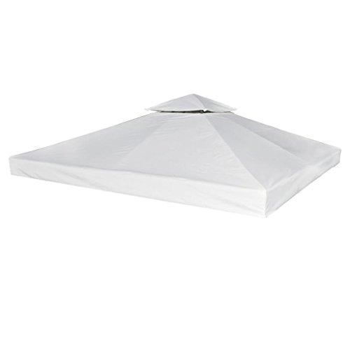 Lienzo de repuesto pergola Gazebo 270G/m² blanco crema 3x 3m