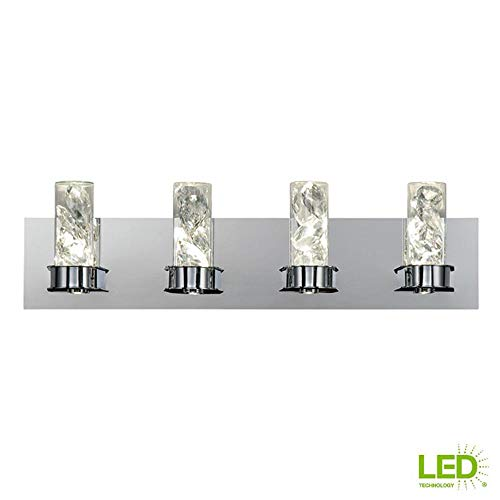 Home Decorators Collection York Collection 30-Watt Crystal Integrated LED Bath Light