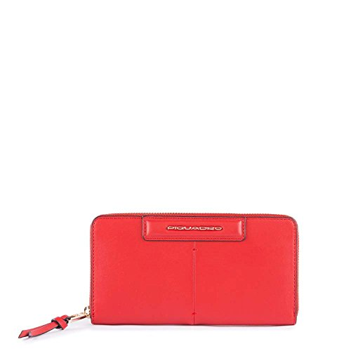 Piquadro Splash Porta carta di identità, 19 cm, Rosso/Sabbia