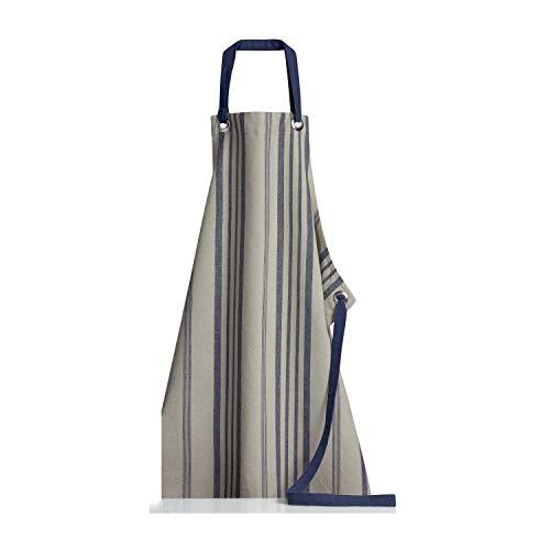 Winkler - Tablier de cuisine - Tablier de cuisine réglable - Tablier pour la cuisine - Tablier barbecue - Tablier 100% Coton - 80 x 85 - Bleu Marine Bleu - Tonka