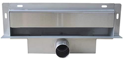 Wandablauf Duschablauf WD-GT02 inkl. Ablaufblende - Länge wählbar, Länge Duschrinne:300mm