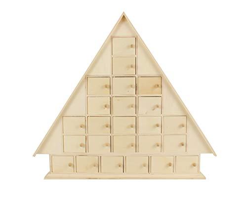 MegaCrea DIY Maison de l'Avent Bois 42,5x48x8 cm