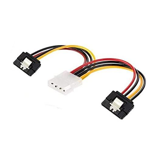 Mogzank 10 Piezas 4PIN Molex en 2 SATa Doble AlimentacióN y Divisor Adaptador Cable Cable 2 VíAs 4 Pin -15 Pin