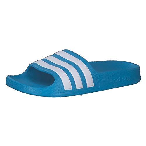 adidas Adilette Aqua K, Zapatillas, Solar Blue/FTWR White/Solar Blue, 36 2/3 EU