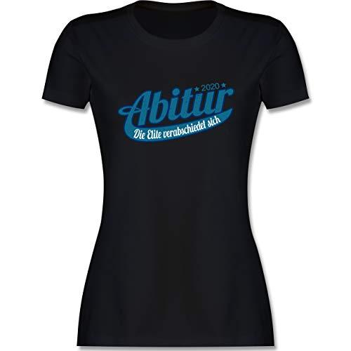 Abi & Abschluss - Abitur 2020 Die Elite verabschiedet Sich - S - Schwarz - Geschenke zum abi - L191 - Tailliertes Tshirt für Damen und Frauen T-Shirt