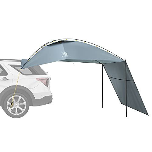 Coastrail Outdoor SUV Tailgate Sun Shade Awning Car Rear Tent with Side-Wall for Vehicle Sun Shelter, Setup Anywhere-Car Camping, Park, Sports, Attach to Truck Van RV Jeep