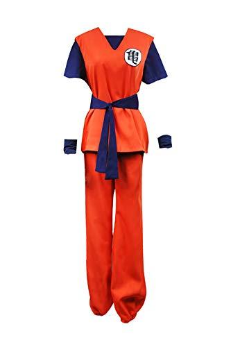 XOMO Dragon Ball Cosplay Goku Costume Women's Red Full Set L