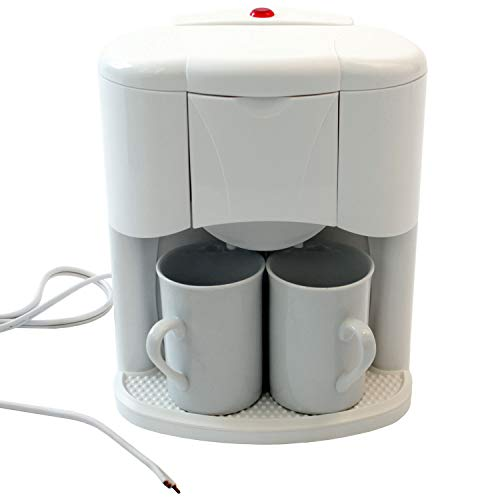 Macchina da caffè con 2 tazze da caffè per 2 tazze da 24V 300W, macchina da caffè da viaggio per camion barche o camper