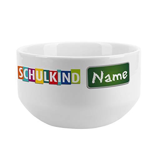 Striefchen® Müslischale für Kinder zur Schuleinführung - Endlich Schulkind - personalisiert aus Keramik