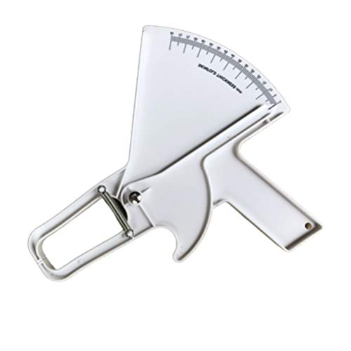 Garneck Körperfett Messer Plastik Messschieber Körper Maßband Fitness Messgerät für Halten Gesundheitsanalysator (Weiß)