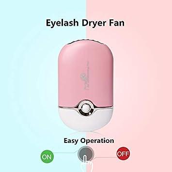 aria condizionata per estensione delle ciglia colore: viola WitMoving mini ventilatore portatile per asciugare le ciglia ricaricabile tramite USB piccola ventola di raffreddamento
