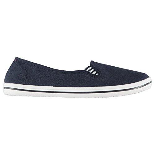 Slazenger Damen Canvas Slipper Sneaker Marineblau 39