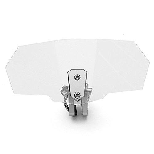 Alamor Pare-Brise Universel Moto Déflecteur Pare-Brise Transparent