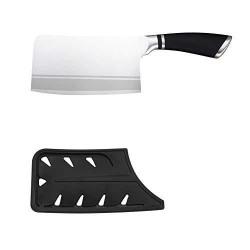 Edelstahl Hackmesser Bend-Handle voller Zapfen Cleaver Chef-Messer Fleisch Fisch...