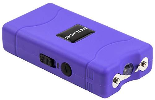 POLICE Stun Gun 800-30 Billion Mini Rechargeable with LED Flashlight, Purple