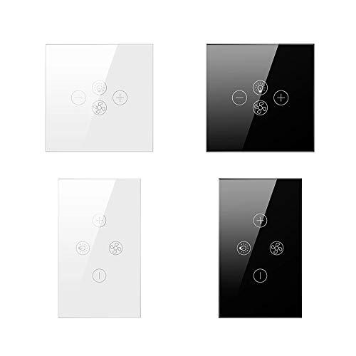 Interruptor inteligente da luz e ventilador de teto Wifi, Interruptor Tuya, funciona com alexa, google home e App Smartlife - Branco
