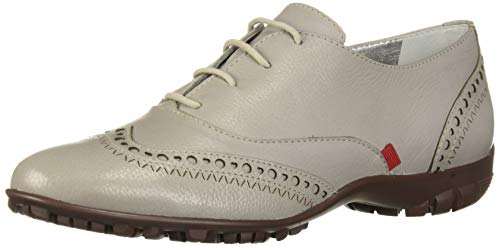 MARC JOSEPH NEW YORK Womens Leather Made in Brazil NYC Lace Up Golf Shoe, ash Grainy, 11 M US