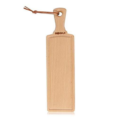 BOSKA 358118 Planche à Fromage Amigo Tapas Taille S, Bois, Beige, 24 x 15 x 1,6 cm