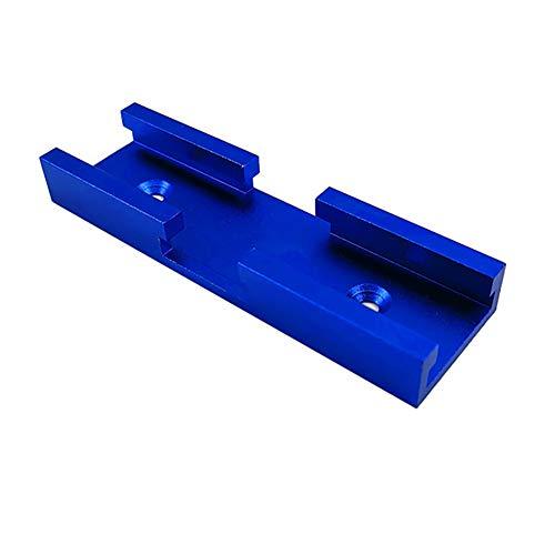 jeerbly 1 pieza de 100 mm 30 tipo T-Track ranura de aluminio inglete herramienta de carpintería pista pista de intersección de la canal para sierra circular eléctrica giratoria mesa
