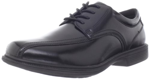 Nunn Bush Men's Bartole Street Bicycle Toe Oxford Lace Up with KORE Slip Resistant Comfort Technology, Black, 11 X-Wide US