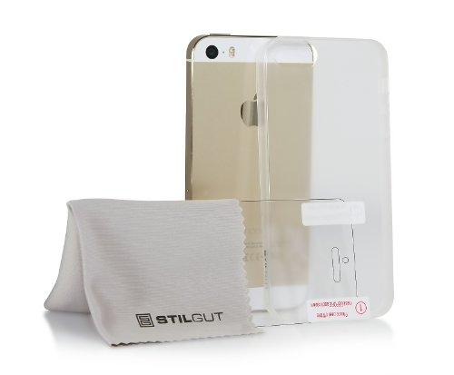 StilGut Ghost, unsichtbare Flexible Schutzhülle Bumper kompatibel mit Apple iPhone SE