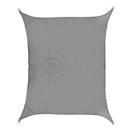 MZSC 420D Impermeabile Oxford rettangolo Tenda da Sole ombreggiatura Ombra Netta Sun Sail all'aperto Sun Capanno (Color : Gray, Size : 2X3m)