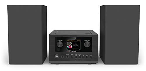 Karcher MC 6490DI Kompaktanlage (mit CD Player, Stereoanlage mit Internetradio und Bluetooth, UKW und DAB+ Radio mit Senderspeicher, USB mit Ladefunktion/MP3-Wiedergabe, Wecker mit Dual-Alarm) schwarz