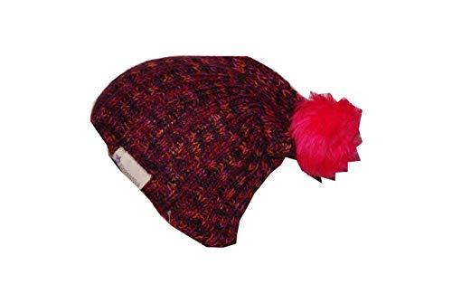 Strickmütze Mütze Pudelmütze pink