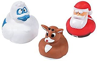 Rudolph the Red-Nosed Reindeer Rubber Ducks Rudolph Santa Bumble, Set of 3