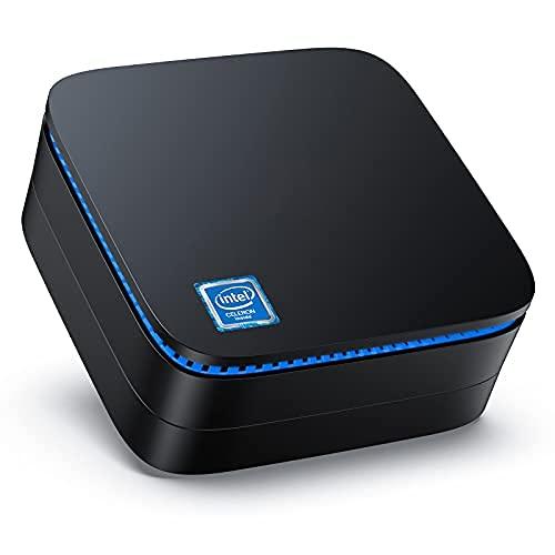 Mini PC,8GB RAM +128GB ROM Intel Celeron J3455,Windows 10 Pro (64 bit) Desktop PC,Supporto HDMI + VGA Dual Display, 4K HD, Dual Band WLAN, Gigabit Ethernet, BT 4.2, Mini PC for Office, Home