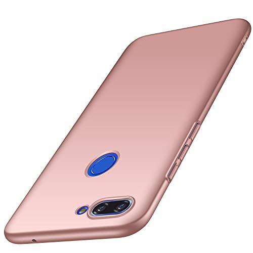 AOBOK Funda Xiaomi Mi 8 Lite, Ultra Slim Duro Fundas Anti-Rasguño y Resistente Huellas Dactilares Totalmente Protectora Caso Duro Carcasa Case para Xiaomi Mi 8 Lite Smartphone, (Oro Rosa)