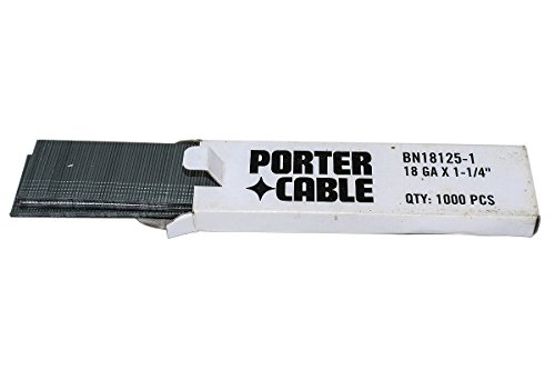 PORTER-CABLE BN18125-1 1-1/4-Inch 18 Gauge Brad Nail (1000 per Box)