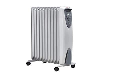 ewt Öko-Radiator NOC eco 25 TLS, elektrische Heizung für Ihr Zuhause, mobiler Heizkörper mit Thermostat, leicht & kompakt, Elektroheizung ohne Öl, 2500 W