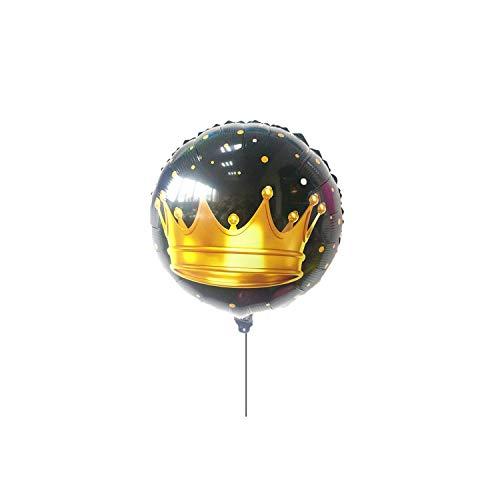 Big Incisors Partydekor Glücklich | 2 Stück / Set Crown Bierkrug Folienballons Goldballons Geburtstagsfeier Dekorationen Kinder Karnevalsbedarf-2PCS-