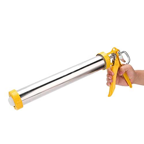 Pistola de calafateo, pistola de calafateo de sellador, pistola de calafateo de palanca, pistola de calafateo de acero inoxidable con marco giratorio cilíndrico, instalación de muebles, herramienta de