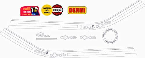 Kit de adhesivos motos clasicas DERBI Coyote - Juego Pegatinas Completo - Vinilo para Moto, máxima Calidad.