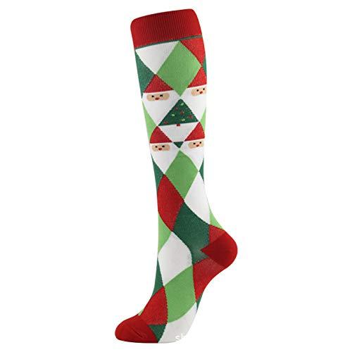 OrderLaiLai Chaussettes de compression 3 paires-pour femmes et hommes Chaussettes hautes pour sports d'athlétisme, course à pied, vol, voyage Athletic Fit-J_L / XL